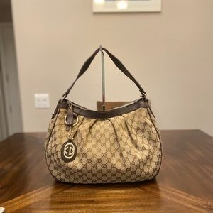 Gucci GG logo Supreme Shoulder Bag Satchel